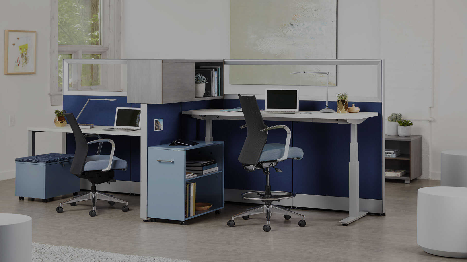 Trendway Capture System with Height Adjustable Desks